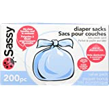 Sassy Baby Disposable Diaper Sacks, 200 Count, Packaging may vary