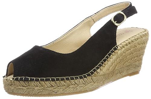 Macarena ANA4SE-AM, Alpargatas para Mujer, Negro (Black Serraje), 38 EU: Amazon.es: Zapatos y complementos