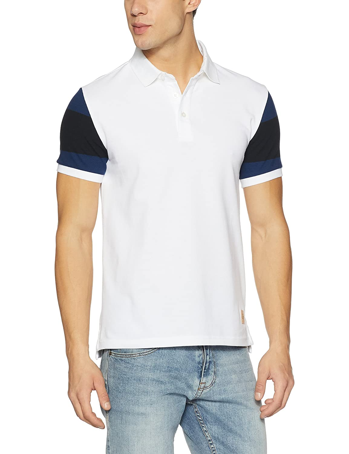 United Colors of Benetton Men's Striped Regular Fit Cotton Polo
