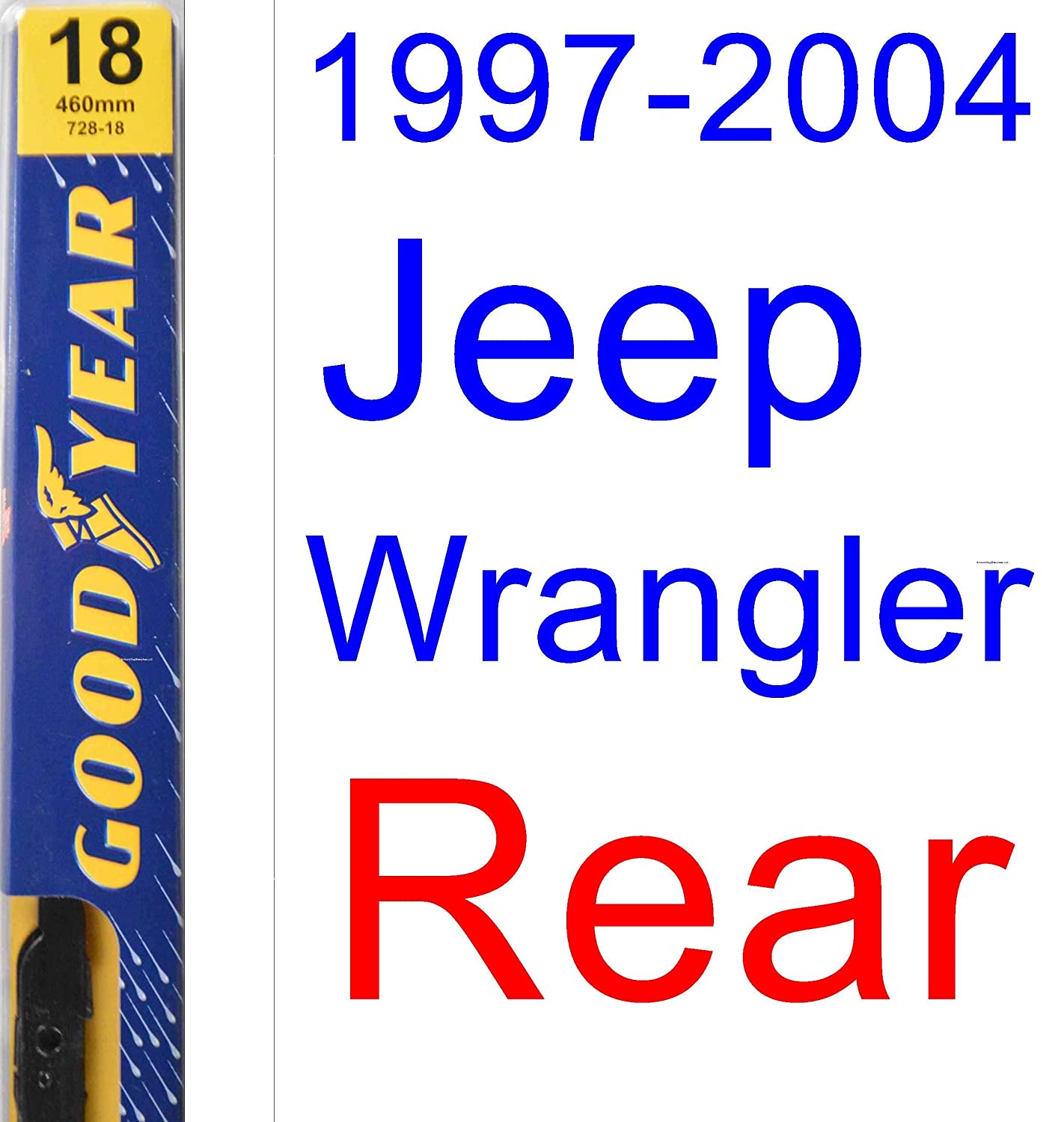 1997 2004 Jeep Wrangler Replacement Wiper Blade Set Kit 2003 Liberty Wiring Of 3 Blades Goodyear Premium 199819992000200120022003