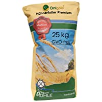 Ornigold Hühnerfutter 25 kg mit Weizen, Bruchmais, Gerste, Hafer und Muschelkalk - Premium Ergänzungsfutter - Körnermischfutter mit Legemehl kombinierbar für Alleinfutter