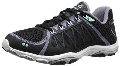 Ryka Women's Influence 2 Cross-Training Shoe, Black/Purple Ash/Mint Ice