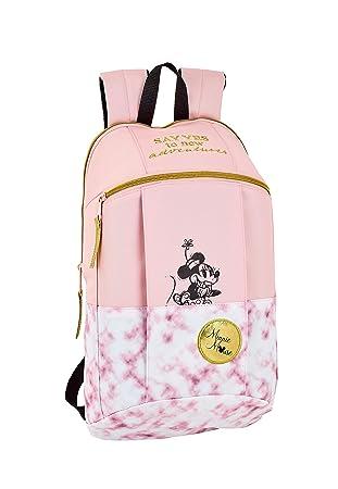 """Safta - Minnie Mouse """"Blogger"""" Oficial Mini Mochila Uso Diario 220x100x390mm"""