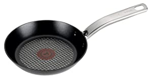T-fal C51702 ProGrade Titanium Nonstick Thermo-Spot Dishwasher Safe PFOA Free with Induction Base Fry Pan Cookware, 7.5-Inch, Black