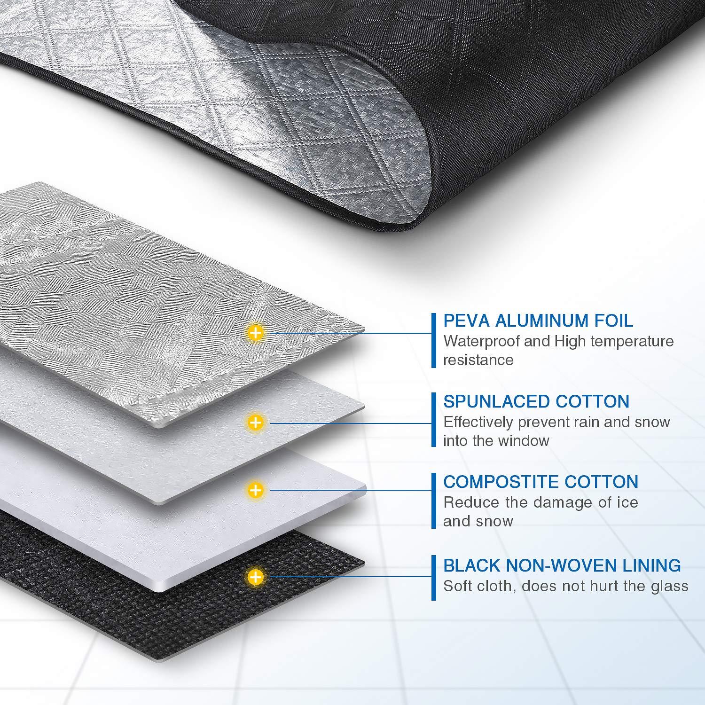 plata nieve//hielo//UV//polvo magn/éticos Sunbick SC001X Cubierta de nieve para parabrisas del coche 147 x 120 cm