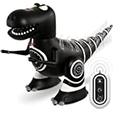 Sharper Image Remote Control Mini RC Robotosaur Dinosaur Toy for Kids, Miniature Futuristic Sci-Fi Robot T-Rex Moving Action Fig