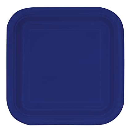 Square Navy Blue Paper Cake Plates 16ct  sc 1 st  Amazon.com & Amazon.com: Square Navy Blue Paper Cake Plates 16ct: Kitchen u0026 Dining