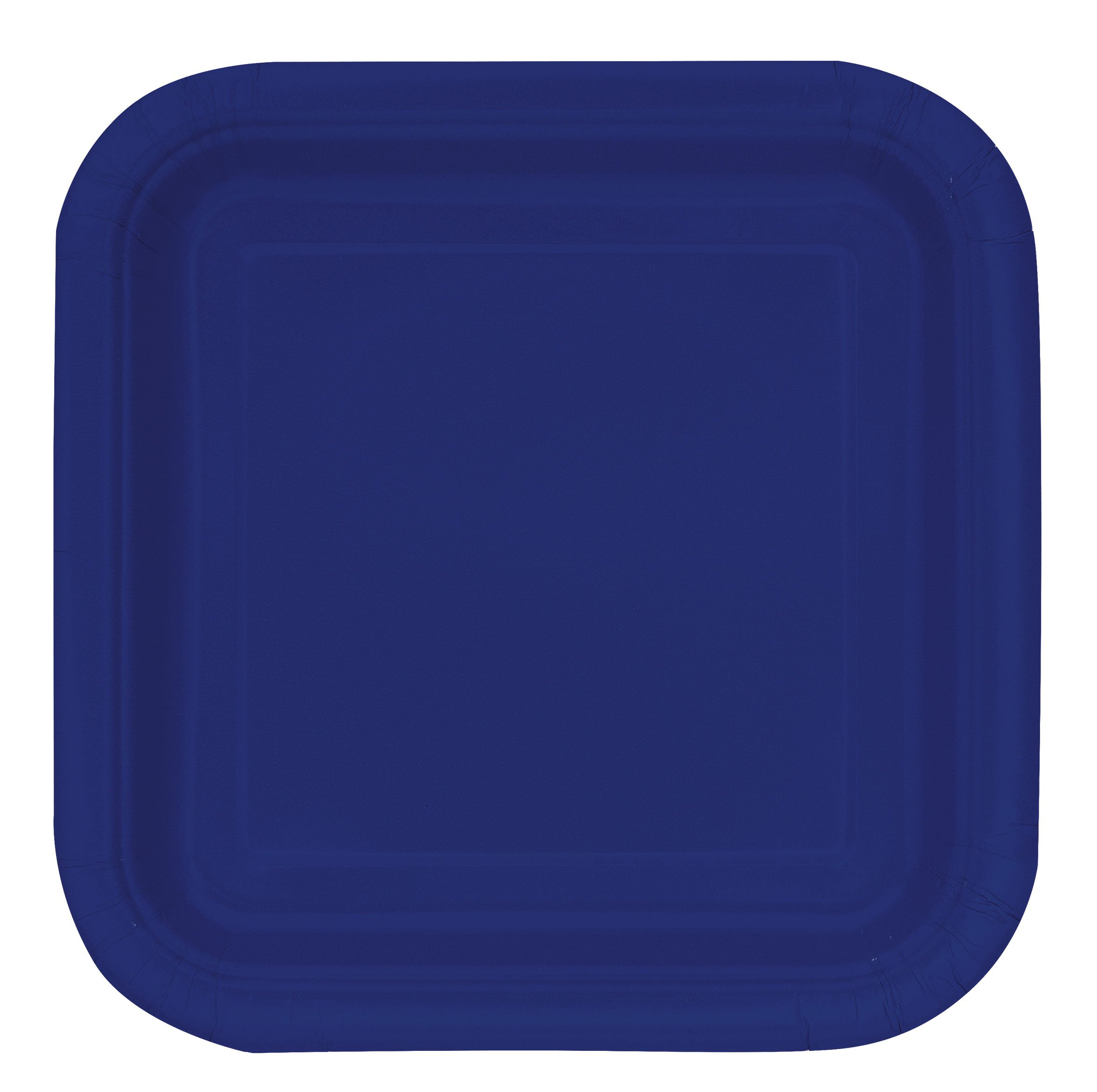 Square Navy Blue Paper Cake Plates, 16ct