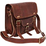 TUZECH Genuine Leather Bag Laptop Vintage Messenger Bag Handmade Unisex Fits Laptop Upto 13 Inches