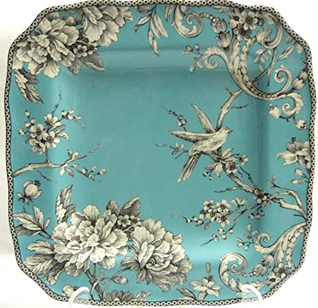 Amazon.com | 222 Fifth Adelaide Turquoise Dinner Plate, Set of 4 ...