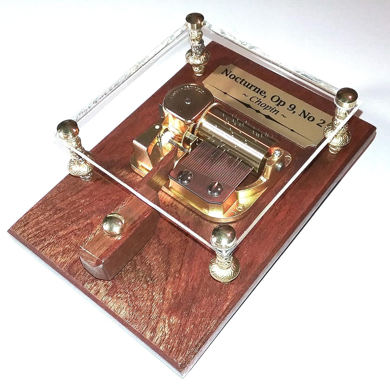 高価値セリー Chopin 's Be Nocturne Op 9 B079GMLQ9T No 2 – – 30 Note Musicボックスby Odyssey – Can Be Personalized – Classical Music – AfricanレッドマホガニーFine木製ベース – Sankyoオルフェオ B079GMLQ9T, 文具の富士商会:84027507 --- arianechie.dominiotemporario.com