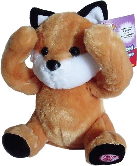 Play Right Peek-a-Boo Plush Animated Animal Orange Fox Plays Peekaboo and Talks.
