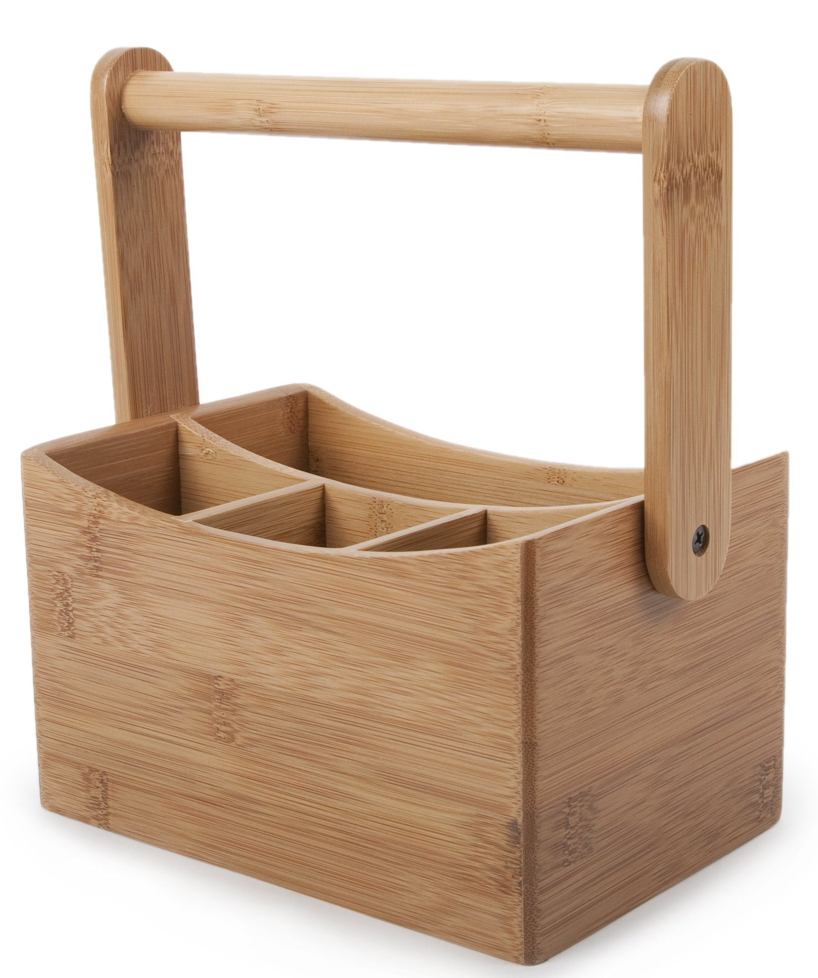 Core Home CTLH-355 9'' X 4.8'' X 6.5'' Natural Core Bamboo Cutlery Caddy