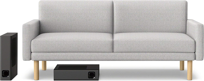 Black Sony HT-MT300 Compact Soundbar with Interior Matching Design and Bluetooth Renewed