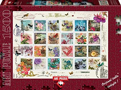 Stamp Collage By Lorna Finchley 1500 Piece Puzzle