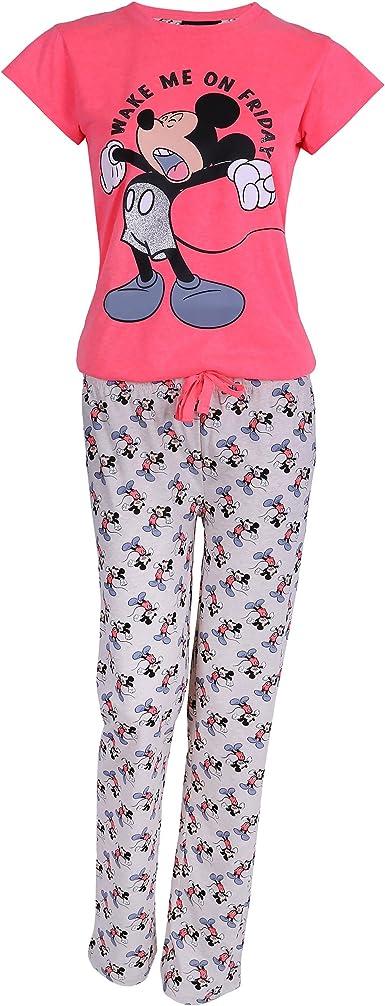 Disney - Mickey Mouse - Pijama - para mujer rosa Rosa: Amazon ...