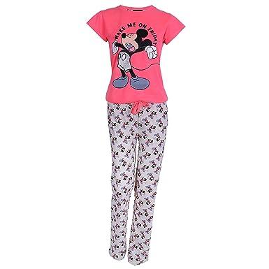 667978a6415ab1 Disney, Mickey Maus, Damen 2tlg. Schlafanzug-Set, Pyjama, Nachtwäsche,