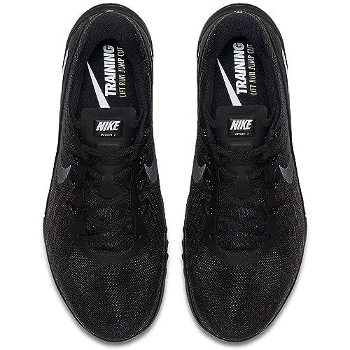 Nike Mens Metcon 3 Training Shoes Track Black/Black Size 14