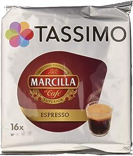 Tassimo Marcilla, Cápsulas de café (Espresso) - Pack de 5 x 16 cápsulas