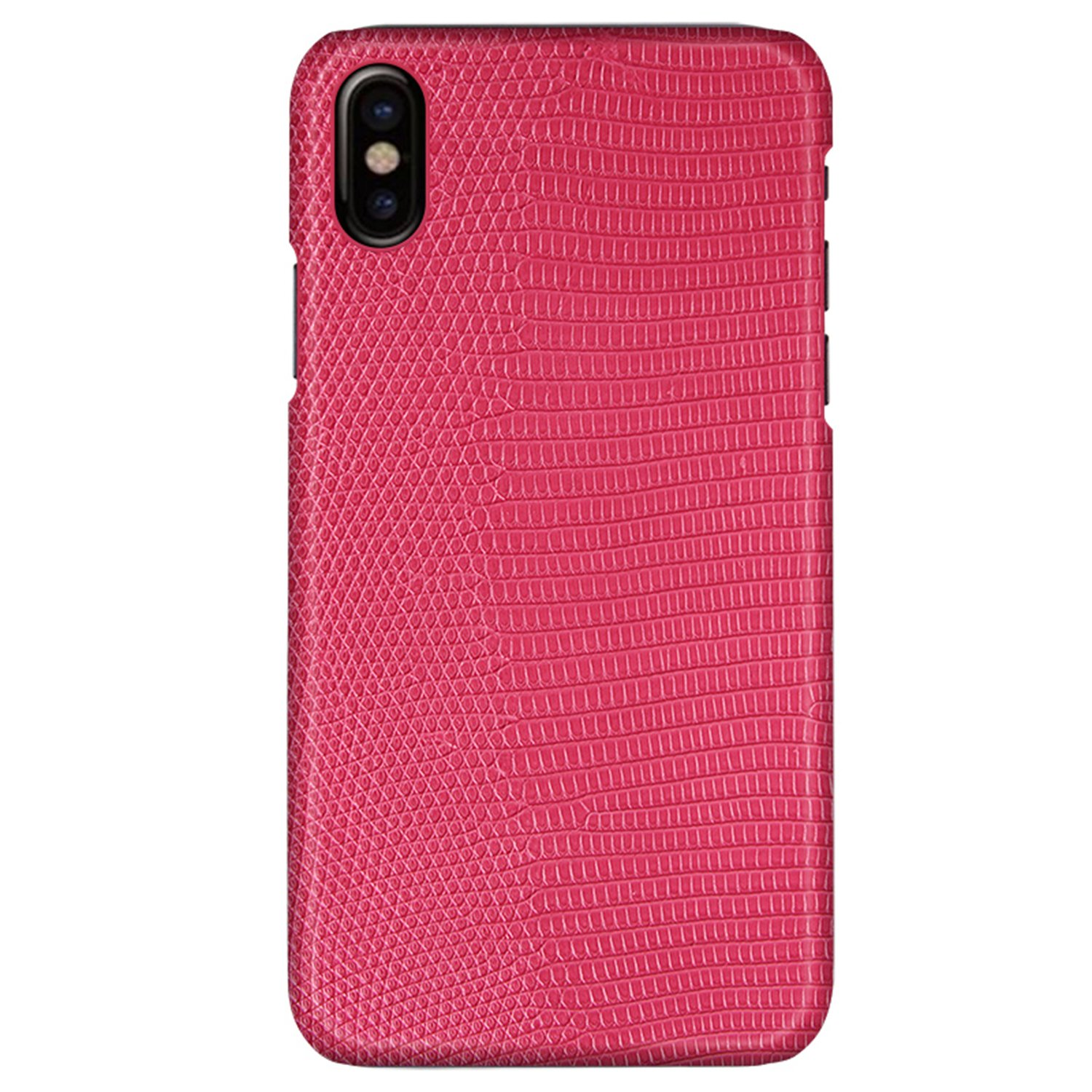 UU&T Lightweight Luxury Case Lizard Leather Premium Shockproof Hardshell Back Cover Case For IPhone X 5.8 Inch Pink