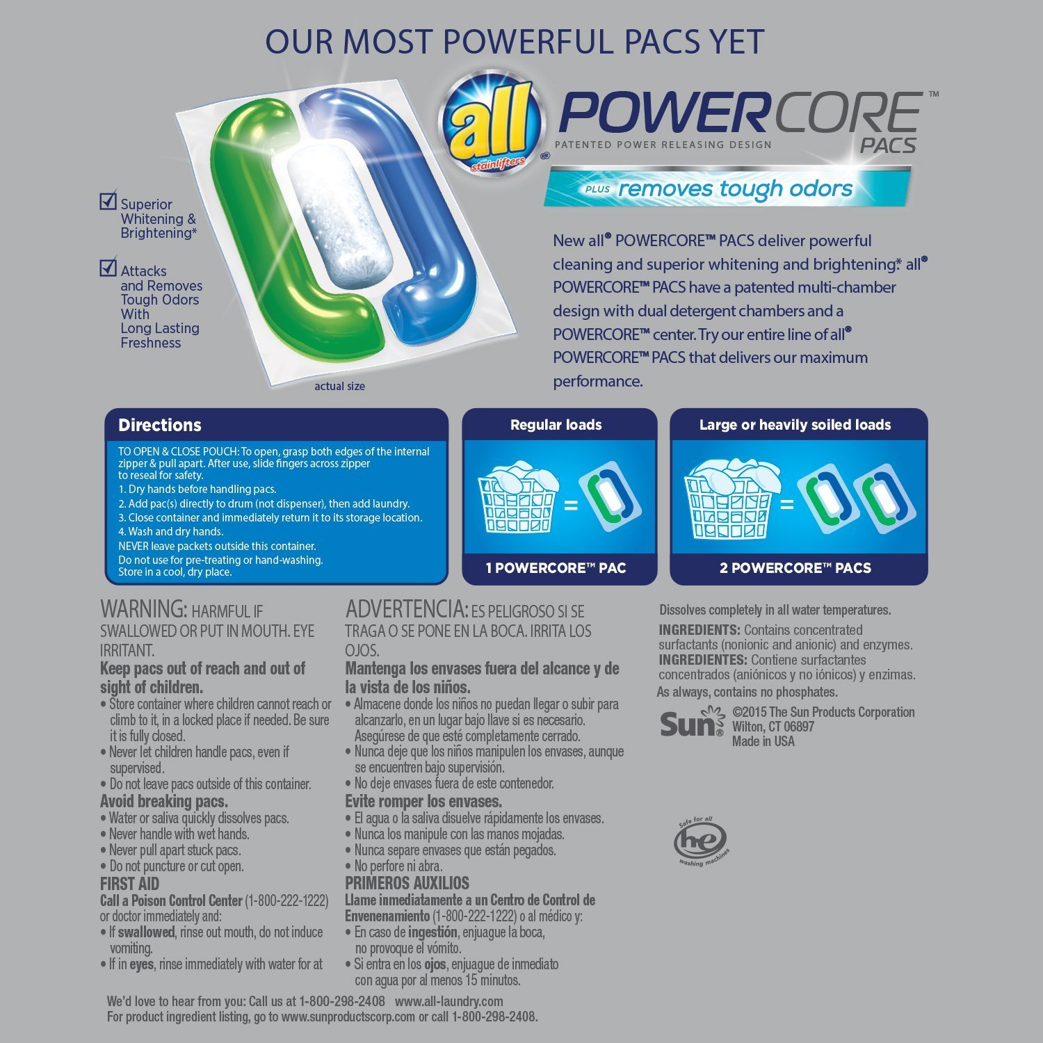 Amazon.com: Todos los PowerCore Pacs detergente de ...