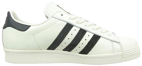 new style b9160 5a1d6 adidas Originals Superstar 80s Deluxe, Sneakers basses homme - Blanc (Vintage  White S15-ST Core Black Off White) 49 1 3 EU  Amazon.fr  Chaussures et Sacs