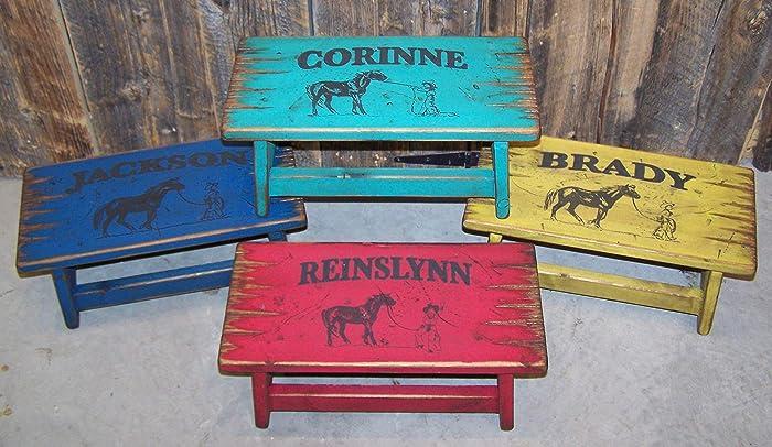 Terrific Amazon Com Kids Stool Personalized Step Stool For Kids Customarchery Wood Chair Design Ideas Customarcherynet