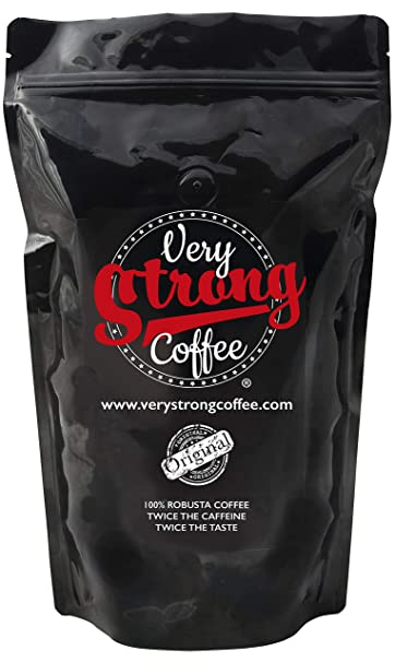 Very Strong Coffee 250g - Whole Beans - 100% ROBUSTA COFFEE - TWICE THE CAFFEINE - TWICE THE TASTE.