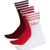 adidas Solid Crew Sock 3 Pack Socks, Hombre