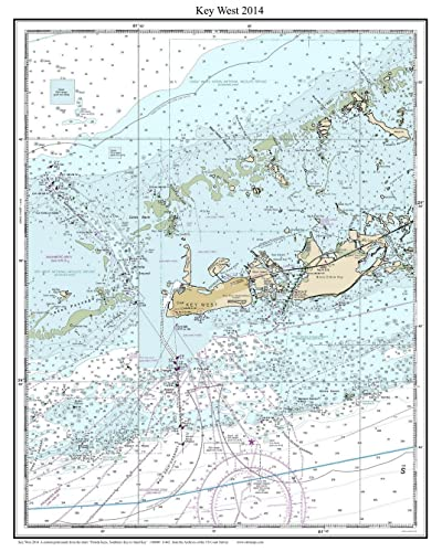 photograph relating to Printable Map of Key West identified as : Secret West 2014 - Nautical Map Florida - Customized