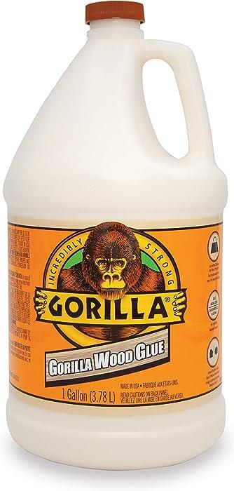 Gorilla Wood Glue, 1 gallon Bottle, Natural Wood Color, (Pack of 1)