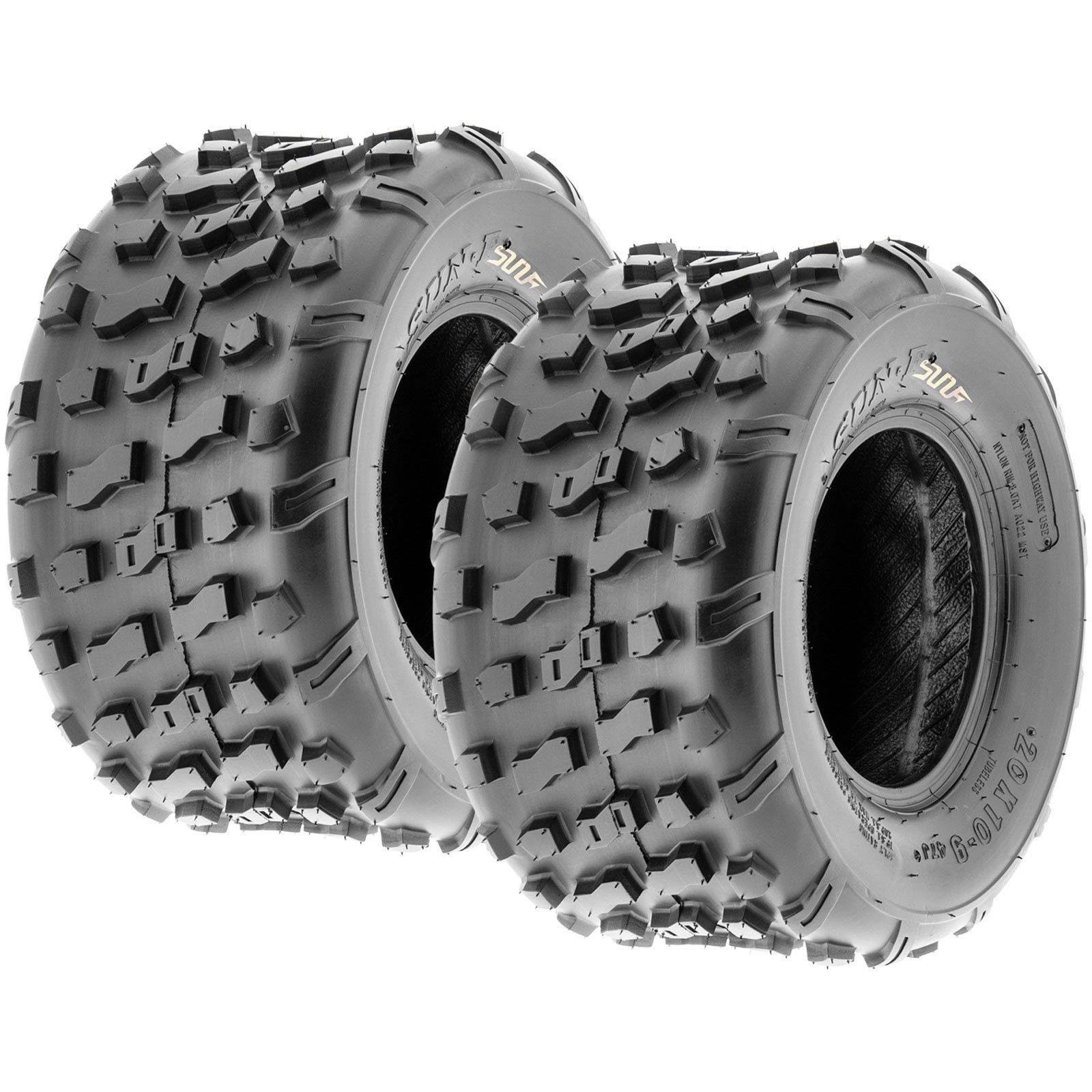 Set of 2 SunF 20x10-9 20x10x9 ATV UTV Knobby Rear Tire 4 Ply A022