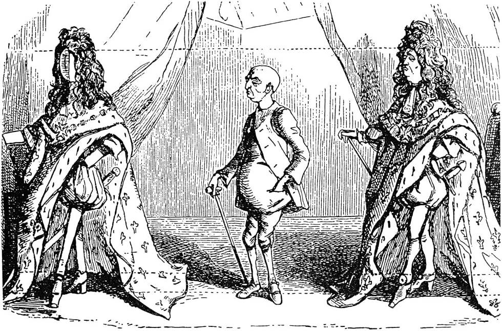 Louis Xiv (1638-1715) Nking Of France 1643-1715 The King - Louis - King  Louis English Caricature By William Makepeace Thackeray (1811-1863)  Satirizing King Louis Xiv And Hyacinthe RigaudS Famous Portr: Amazon.ca:  Maison et Cuisine