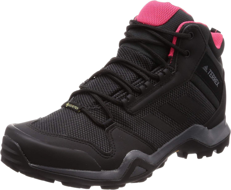 adidas, Terrex Ax3 Mid GTX W, trekking- en wandelschoenen, dames, zwart, maat 38 EU Grijs Carbon Core Black Active Pink 0