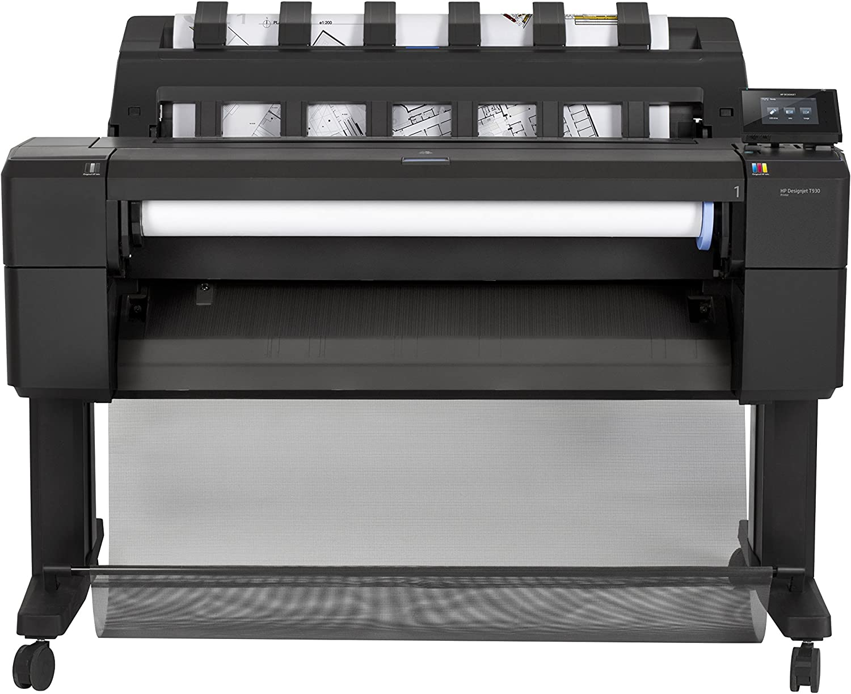 HP Designjet T930 - Impresora de gran formato (HP-GL/2, HP-RTL, TIFF, URF, 2400 x 1200 DPI, Cian, Gris, Magenta, Negro mate, Foto negro, Amarillo, A0 (841 x 1189 mm), 3 x 22