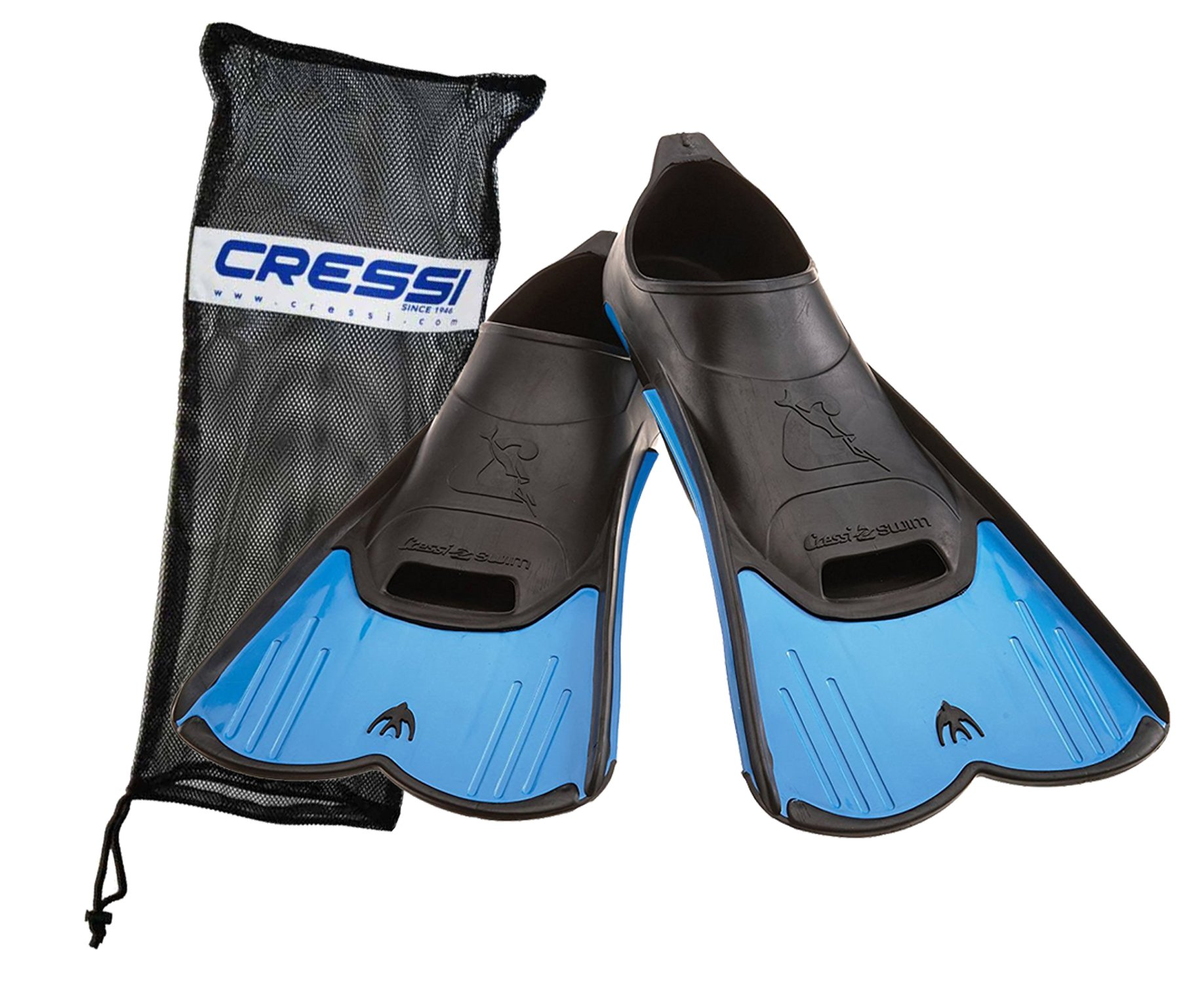 Cressi Light Fin Pool and Training Short Blade Fin with Bag, 5.5/6.5