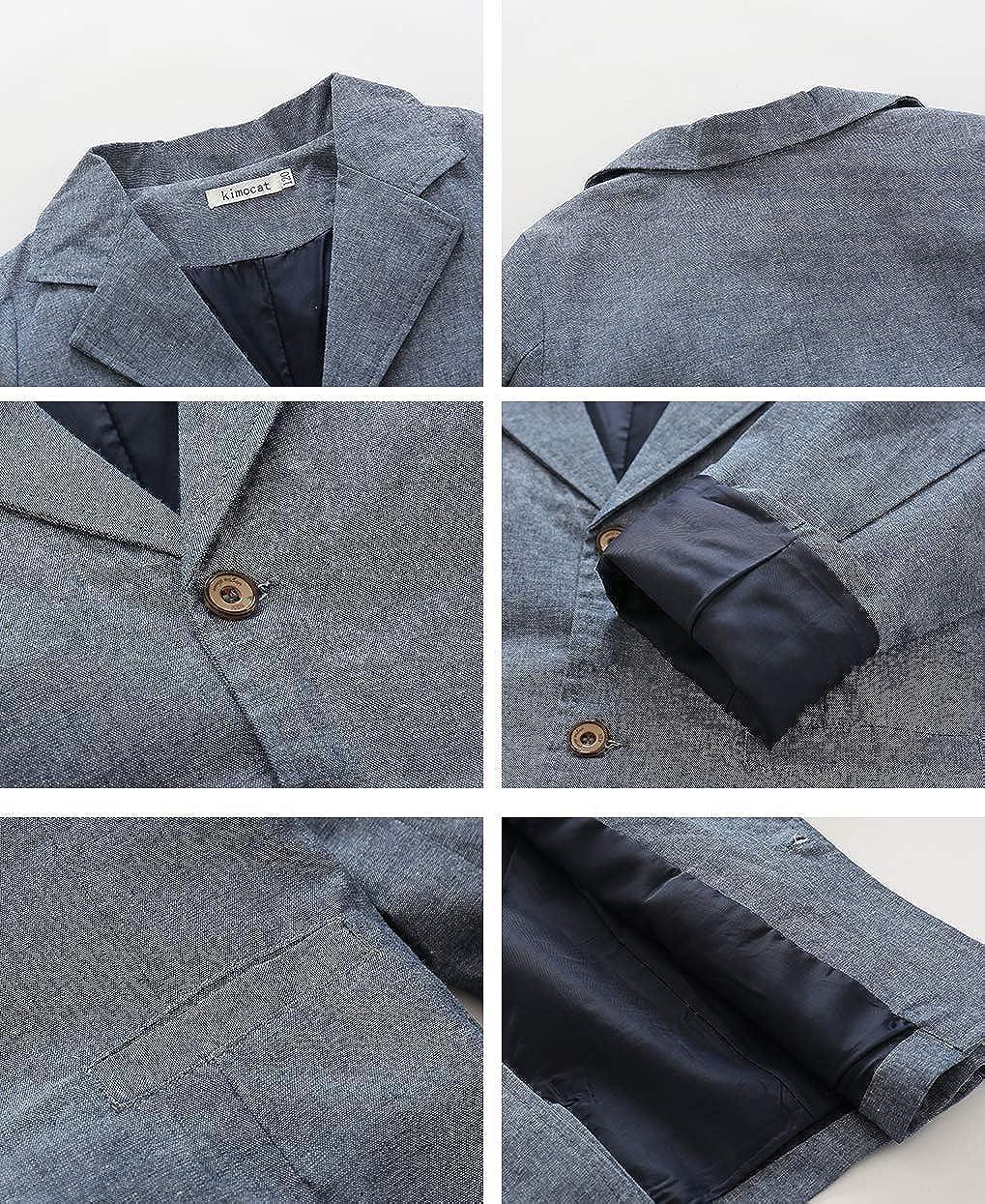 FCQNY Kids Boys Gentleman Outfits Gray Long Sleeve Cotton Casual Blazer Coat