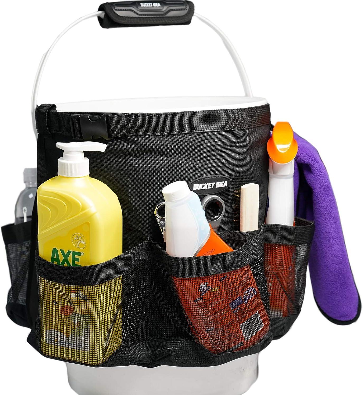 Bucket Idea Bucket Tool Organizer for Garden Tools Fit 3.5 to 5 Gallon Bucket (Black) …