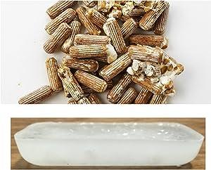 Spawn and Wax Combo - Shiitake Mushrooms Mushroom Mycelium Plug Spawn - 100 Count Plugs - 3oz Wax Grow Edible Gourmet & Medicinal Shitake Fungi On Trees & Logs