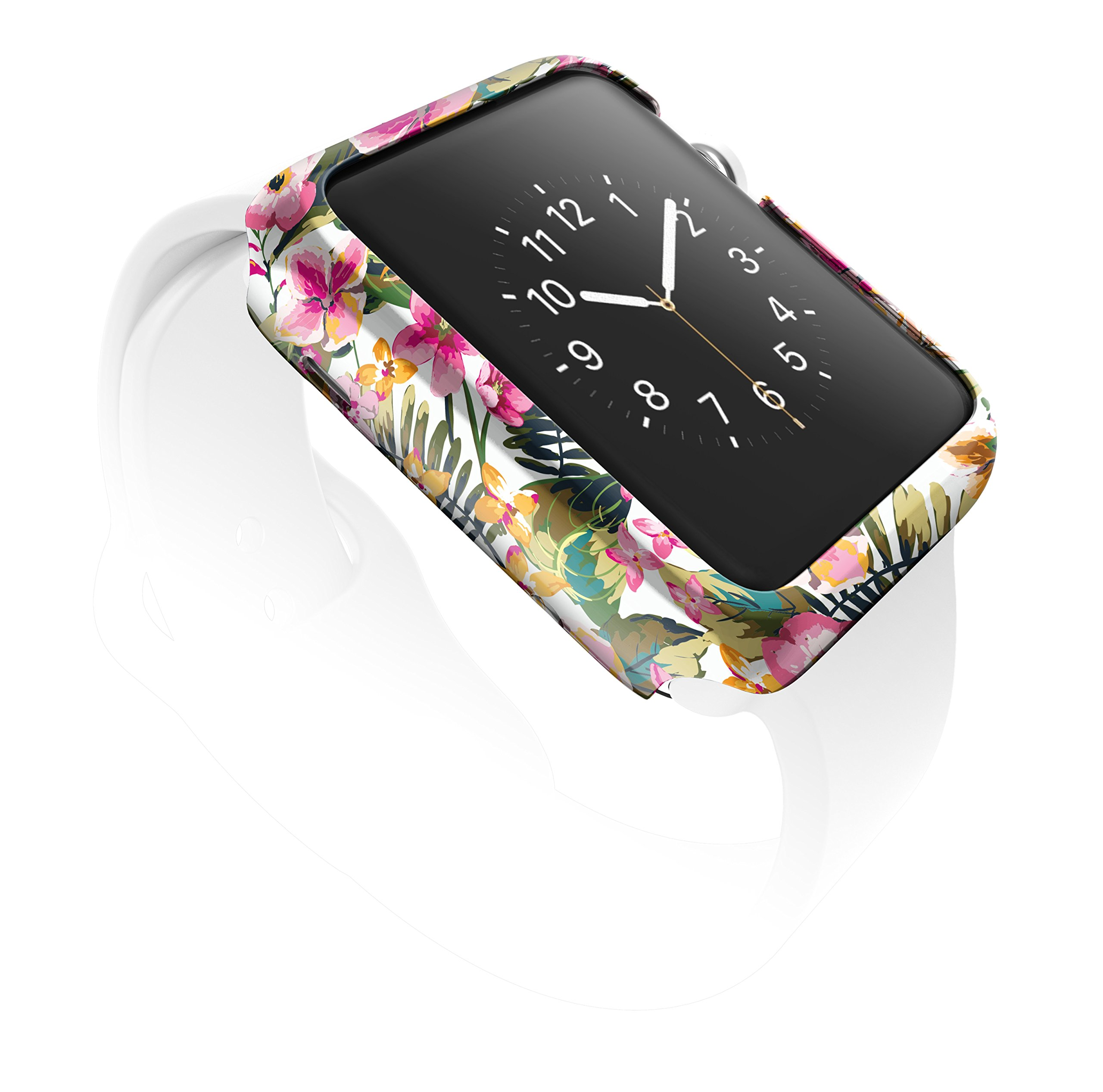 X-Doria 38mm Apple Watch Case (Revel Bumper) Fashion Case (Floral Palm) - Compatible with Apple Watch Series 1, Series 2, Series 3 and Nike+