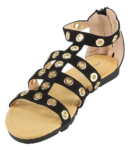 a4e00137ec9f9 Via Pinky Women s Xenia-04 Zip Strap Flat Sandals (10