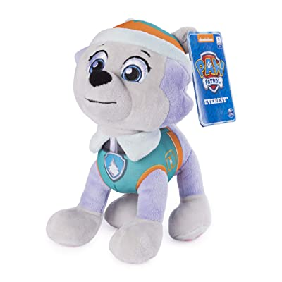 "Paw Patrol, 8"" Everest Plush Toy, Standing Plush with Stitched Detailing, for Ages 3 & Up: Toys & Games"