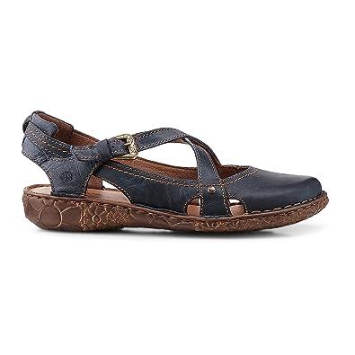 Josef Seibel 79513 Rosalie 13 Modische Damen Leder Sandale, Sommerschuh,  Ballerina, zehengeschlossen Blau