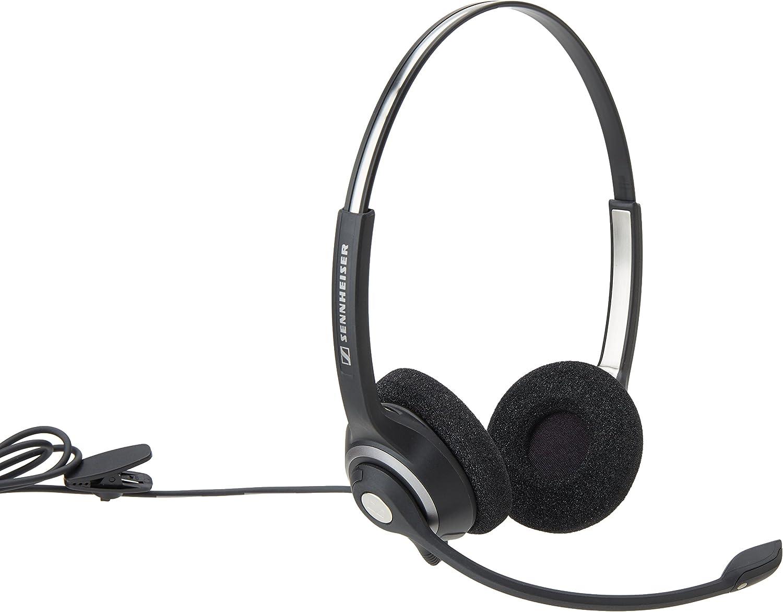 Black//Silver SC260 Sennheiser Circle 2-Ear Dual Sided Headset With ED