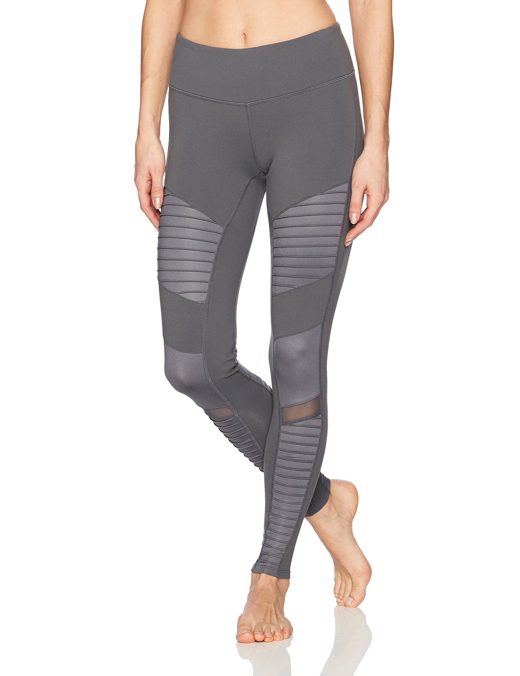 Alo Yoga Women's Moto Legging, Slate/Slate Glossy, M