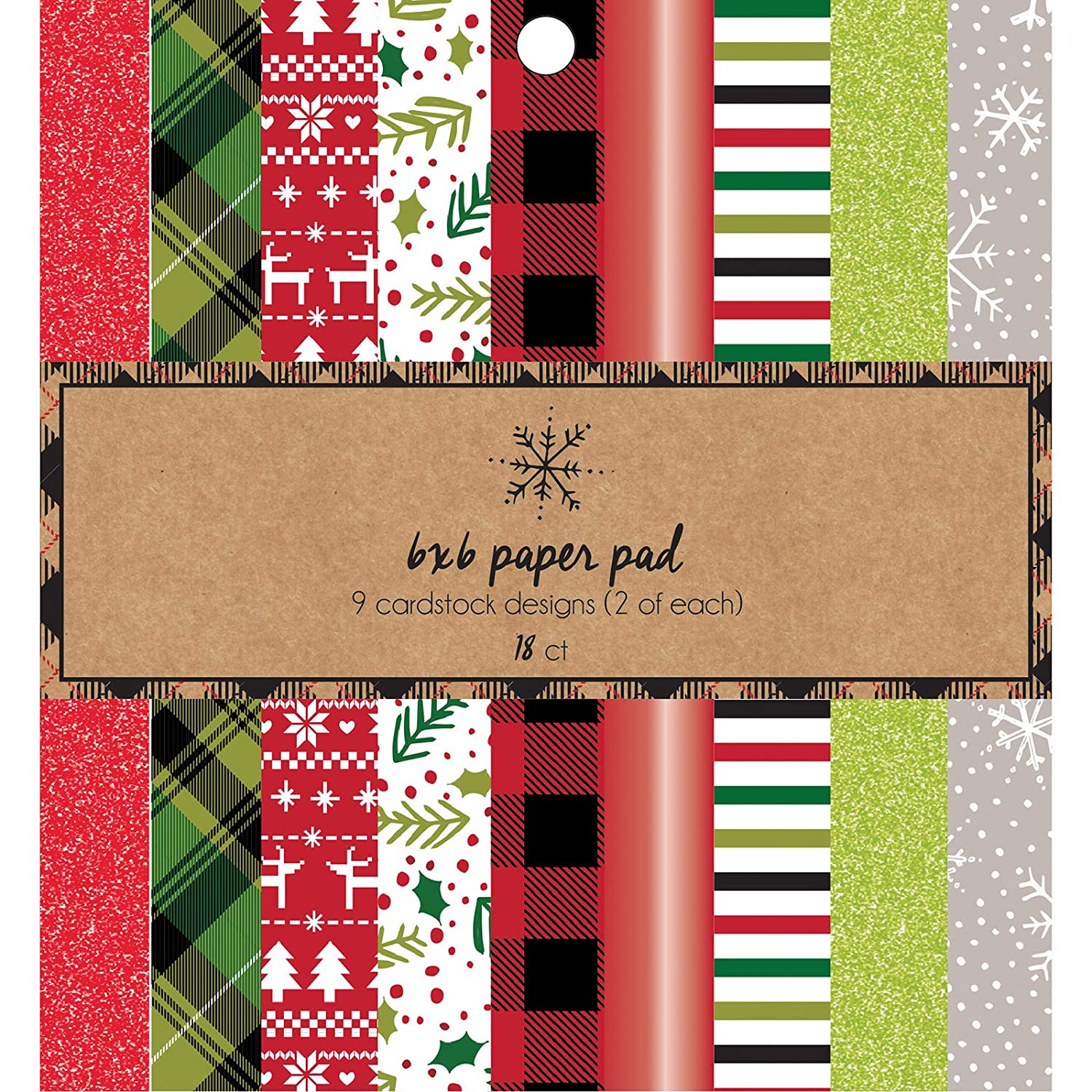 American Crafts 376676 Holiday Paper Pad Multi
