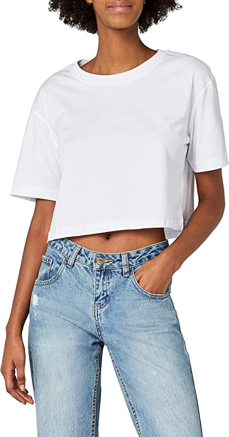 Urban Classics Ladies Short Oversized tee Camiseta para Mujer
