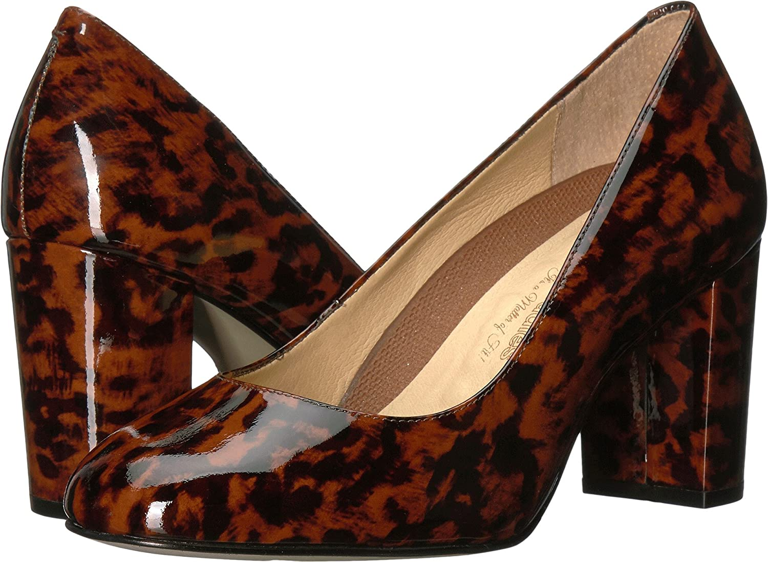 Walking Cradles Women's Matisse Pump Patent B01MZ7BKMA 9.5 WW (EE)|Leopard Patent Pump Leather 62919a