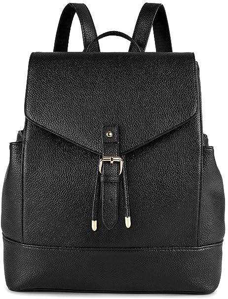 bd77ee171f2f Backpack Womens, COOFIT Leather Backpack for Girls Schoolbag Casual Daypack  School Fashion Backpacks Bag Satchel Black
