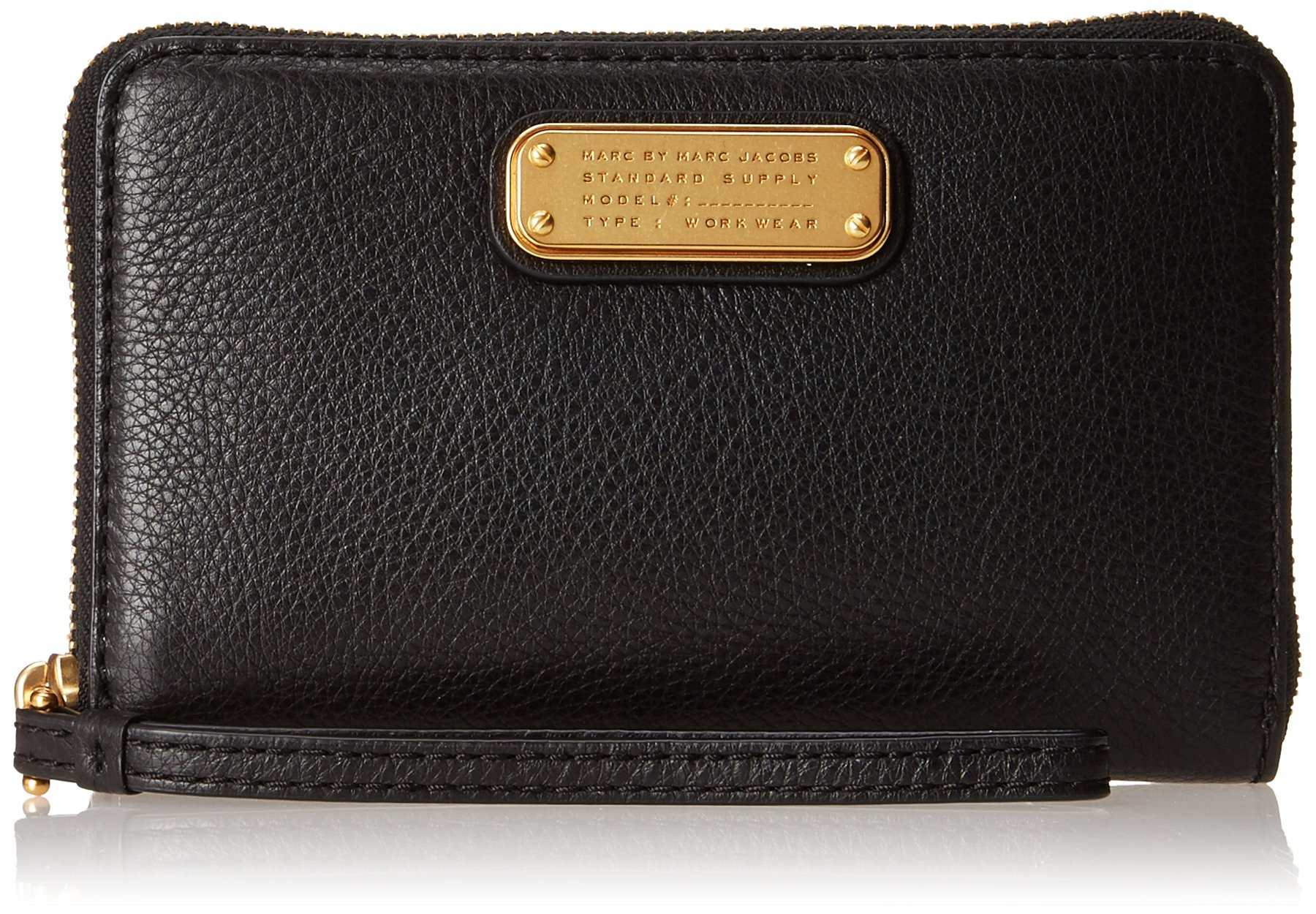 Marc by Marc Jacobs New Q Wingman Wristlet, Black, One Size